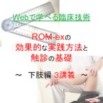 ROM-ex下肢