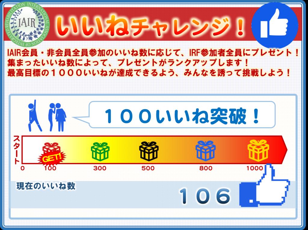 106いいね突破!