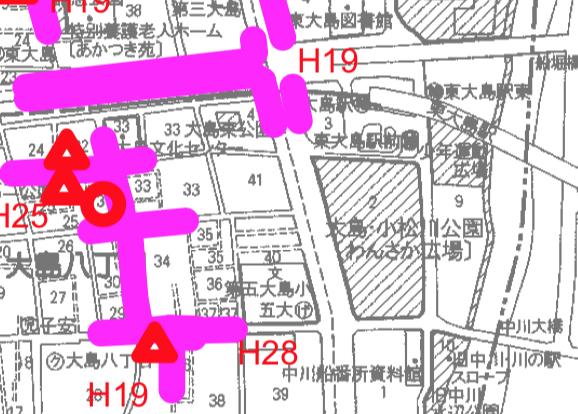 東大島文化センター冠水